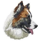 Borduurapplicatie IJslandse Hond EMB001 - rechts kijkend