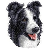 Borduurapplicatie Border Collie EMB001 - variant 1