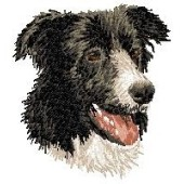 Borduurapplicatie Border Collie EMB004 - variant 1