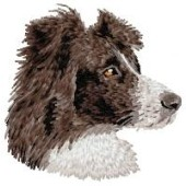 Borduurapplicatie Border Collie EMB005 - variant 1