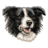 Borduurapplicatie Border Collie EMB007 - variant 1