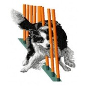 Borduurapplicatie Border Collie EMB009 - variant 1