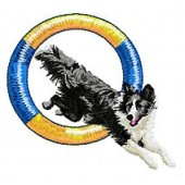 Borduurapplicatie Border Collie EMB012 - variant 1