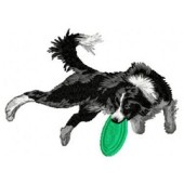 Borduurapplicatie Border Collie EMB016 - variant 1