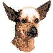 Borduurapplicatie Peruaanse Haarloze Hond EMB001 - rechts kijkend