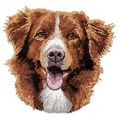 Borduurapplicatie Nova Scotia Duck Tolling Retriever EMB010 - rechts kijkend