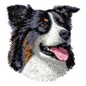 Borduurapplicatie Australian Shepherd EMB018 - variant 1
