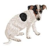 Borduurapplicatie Parson Russell Terrier EMB002 - variant 1
