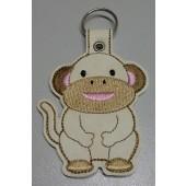 Morris the Monkey ESD001 - licht ecru kunstleer - kleurencombinatie 1