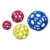 Boomer open bal - rubber - 14 cm. - kleur: blauw