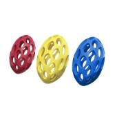 Boomer open rugby bal - rubber - 14 cm - kleur: geel