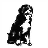 Borduurapplicatie Berner Sennenhond KG-ED2492 - rechts kijkend
