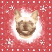 Servetten kerst Franse Bulldog