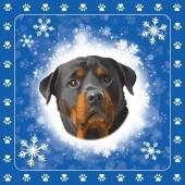 Servetten kerst Rottweiler