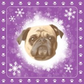 Servetten kerst Mopshond