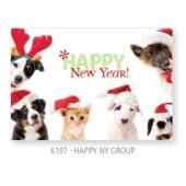 Studio Pets By Myrna - Happy New Year - Wenskaart 16 * 12 cm