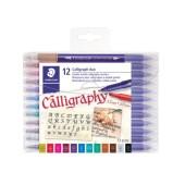 Staedtler kalligrafiepen duo - 2 mm en 3.5 mm - 12 stuks