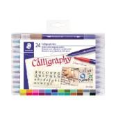 Staedtler kalligrafiepen duo - 2 mm en 3.5 mm - 24 stuks