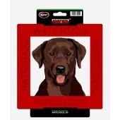 Kunststof waakbord Labrador Retriever (Chocolate)