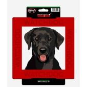 Kunststof waakbord Labrador Retriever (Black)