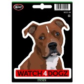 Sticker American Staffordshire Terrier & Staffordshire Bull Terrier