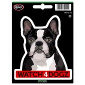 Sticker Boston Terrier & Franse Bulldog