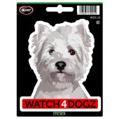 Sticker Havanezer & West Highland White Terrier