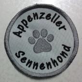 Badge met pootje 35 mm en rasnaam Appenzeller Sennenhond