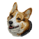 Borduurapplicatie Welsh Corgi Pembroke EMB006 - variant 2
